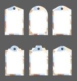 L'insieme di carta etichetta il modello Fotografia Stock Libera da Diritti