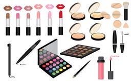 L'insieme di compone e cosmetici Immagine Stock
