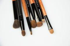L'insieme di compone le spazzole su bianco fotografia stock libera da diritti
