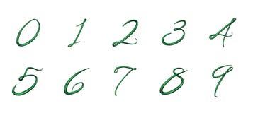 L'insieme di 3d numera da 0 a 9 Immagine Stock