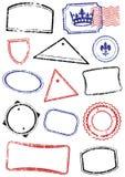 L'insieme di derisione differente in su timbra. Immagine Stock Libera da Diritti