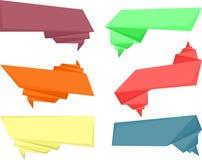 L'insieme di esige gli origami Immagini Stock Libere da Diritti