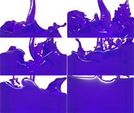 L'insieme di flusso della pittura riempie un contenitore Fotografia Stock Libera da Diritti