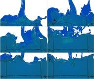 L'insieme di flusso della pittura riempie un contenitore Immagini Stock Libere da Diritti