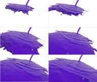 L'insieme di flusso liquido cade su superficie Fotografia Stock Libera da Diritti