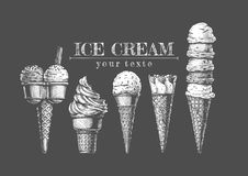 L'insieme di gelato Fotografia Stock
