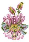 L'insieme di gouache dell'acquerello degli elementi orientali di Paisley sottrae la pittura variopinta della mano del mazzo delle illustrazione di stock