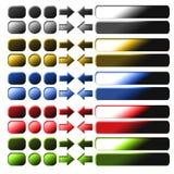 L'insieme di metallo si abbottona per la computazione ed il disegno di Web Immagine Stock