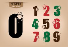 L'insieme di numero astratto di stile di logo con esplode Fotografia Stock Libera da Diritti
