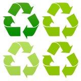 L'insieme di ricicla le icone Fotografia Stock