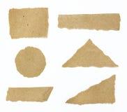 L'insieme di strutturato ricicla la carta lacerata dei bordi Fotografia Stock Libera da Diritti