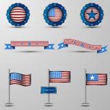 L'insieme di vettore degli elementi di progettazione con lo symbolics degli S.U.A. Fotografie Stock