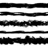 L'insieme di vettore degli stipiti senza cuciture di lerciume, colpi della spazzola, inchiostro nero schizza illustrazione di stock