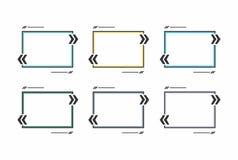 L'insieme di vettore della citazione forma il modello Ambiti di provenienza luminosi variopinti Strutture di discorso variopinte  illustrazione di stock