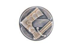 L'insigne civique finlandais de gardes (Suojeluskunta) Images libres de droits