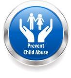 L'insigne de conscience de harcèlement de mauvais traitement à enfant, empêchent le mauvais traitement à enfant Photo libre de droits