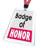 L'insigne de l'honneur exprime l'employé Pride Proud Distinction Photographie stock libre de droits