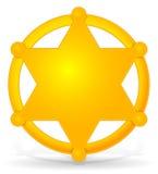 L'insigne du shérif Illustration de Vecteur