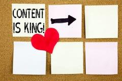 L'inspiration conceptuelle de légende des textes d'écriture de main montrant le contenu est concept de roi pour des affaires lanç Image libre de droits
