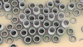 L'installation du tuyau objecte, image créative pour les différents besoins technologiques illustration libre de droits