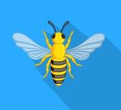 l'instruction-macro d'isolement par miel détaillé par abeille a empilé très le blanc illustration libre de droits