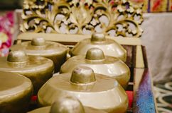 L'instrument de musique traditionnel malaisien a appelé Gamelan photos stock