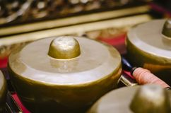 L'instrument de musique traditionnel malaisien a appelé Gamelan photographie stock