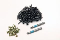 L'instrument Outil Vis en métal Photographie stock