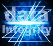 L'intégrité des données représente la sincérité d'Uprightness et vertueux illustration libre de droits