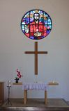 L'intérieur Église protestante Images libres de droits
