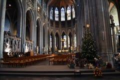 L'intérieur d'église de Waltrude de saint photo libre de droits