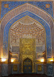 L'intérieur d'Ulugh prient Madrasah, Samarkand, l'Ouzbékistan Image libre de droits