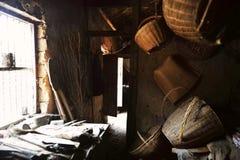 L'intérieur d'un vieux de la maison fermier Image stock