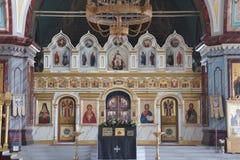 L'intérieur d'une église orthodoxe Photographie stock libre de droits