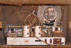 L'intérieur d'une radio de vintage Photographie stock