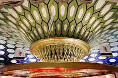 L'intérieur de l'aéroport d'Abu Dhabi Photographie stock libre de droits