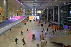 L'intérieur de l'aéroport de Moscou Domodedovo Photographie stock libre de droits