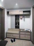 L'intérieur de couloir de minimalisme, 3d rendent Photographie stock libre de droits