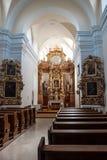 L'intérieur de l'église dans Litovel Images stock