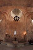 L'intérieur de l'église de Kish, Azerbaïdjan Images libres de droits