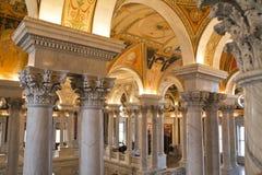 L'intérieur de la Bibliothèque du Congrès Images libres de droits