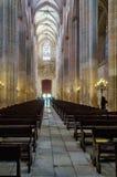 L'intérieur de la cathédrale Batalya - au Portugal photos libres de droits