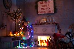 L'intérieur de Noël brouillé et de nouvelle année image libre de droits