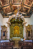 L'intérieur de Nossa Senhora font Rosario Church - Tiradentes, Minas Gerais, Brésil images libres de droits