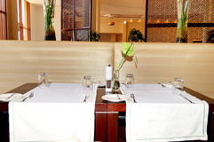 L'intérieur de restaurant de l'hôtel de luxe Image libre de droits