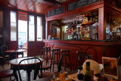 L'intérieur du café de La Valette, Malte Photos stock
