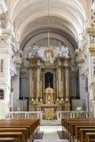 L'intérieur du dei Monti de Trinita d'église placé sur l'Espagnol fait un pas à Rome Il est situé sur le dessus même du hil de Pi Image stock