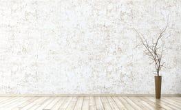 L'intérieur du fond vide 3d de pièce rendent Photographie stock libre de droits