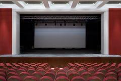 L'intérieur du hall dans le théâtre photo libre de droits