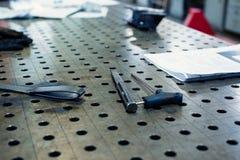 L'intérieur du magasin métallurgique Entreprise industrielle moderne photographie stock libre de droits